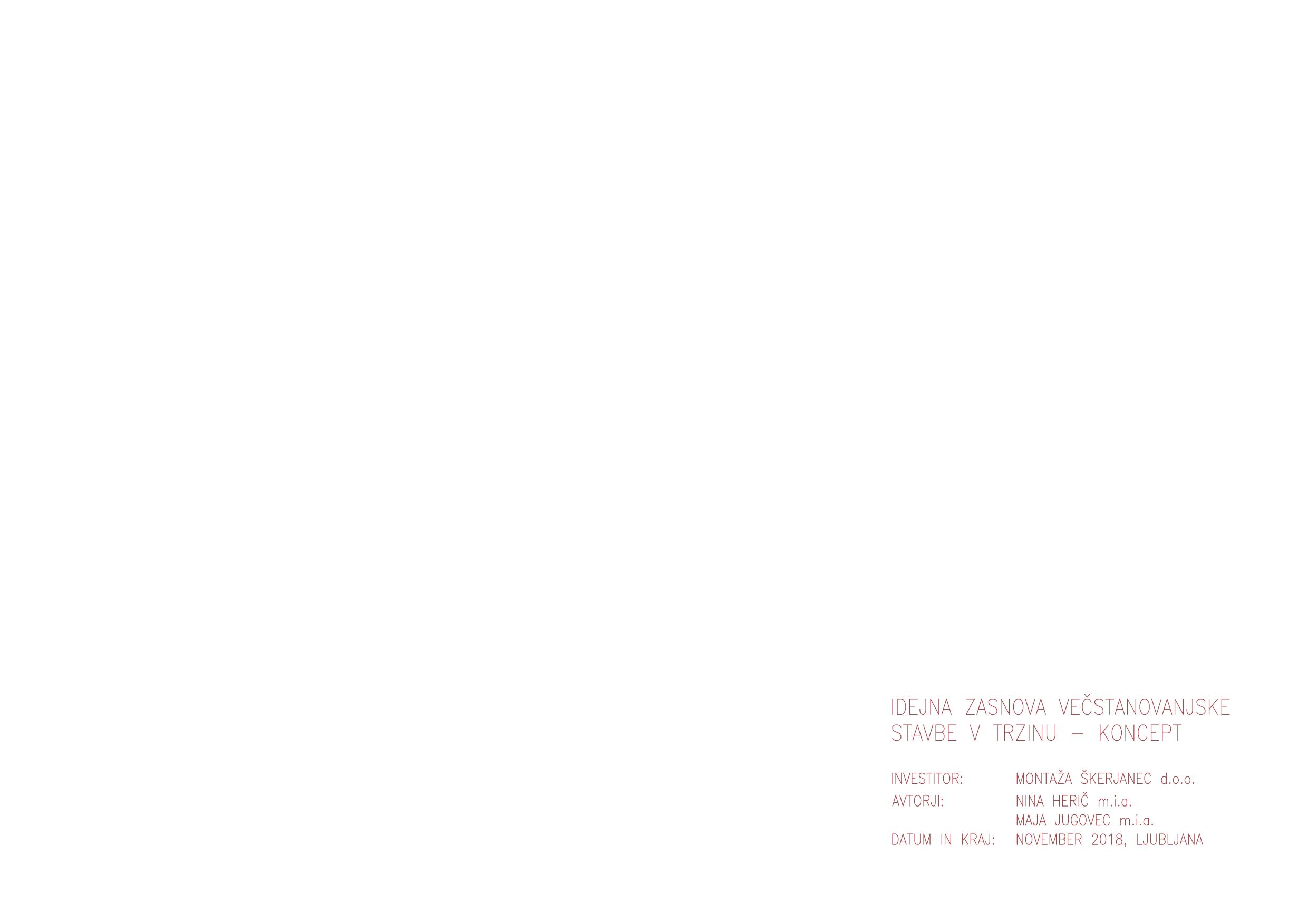 Idejna zasnova večstanovanjske stavbe v Trzinu – koncept